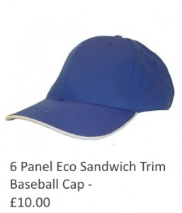 6 Panel Eco Sandwich Trim Baseball Cap
