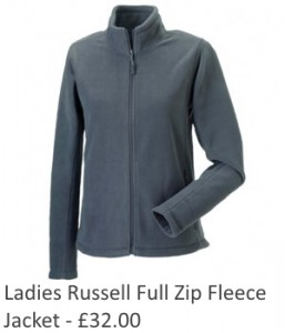 Ladies Russell Full Zip Fleece Jacket
