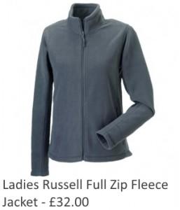 Ladies Russell Full Zip Fleece Jacket