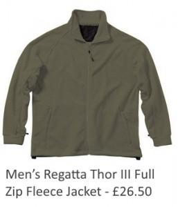 Mens Regatta Thor lll Full Zip Fleece Jacket
