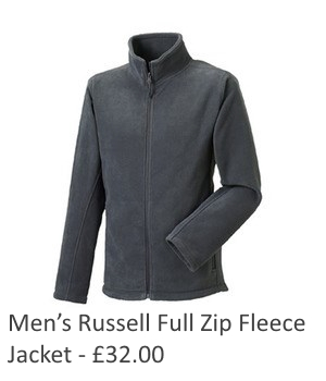 Mens Russell Full Zip Fleece Jacket