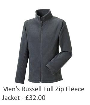 Mens Russell Full Zip Fleece Jacket