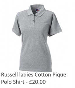 Ladies Russell Cotton Pique Polo Shirt