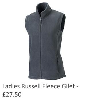 Ladies Russell Fleece Gilet