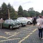 Club members cars outside Kidderminster SVR Station