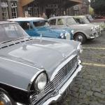 60's Classic Cars outside Kidderminster SVR Station