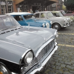 60's Classic Cars outside Kidderminster SVR Station