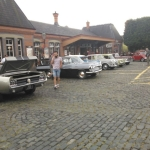 Classic Cars outside Kidderminster SVR Station