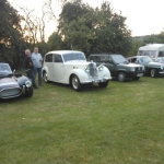 Club members classic cars at Stoke Prior