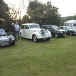 Club members classic cars at Stoke Prior