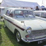 Show featured car - Austin A60 with proud owner
