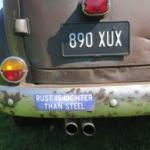 Rust is lighter than steel