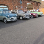 Club cars at Apley Farm - And yes that is the sunshine who could ask for more