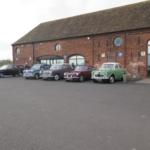 Club cars at Apley Farm