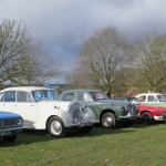Club cars arrive at Weston Park