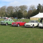 Our club cars in show arena