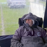 Tony keeps warm and dry but we won't mension the broken chair again!