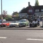 Members cars meet at the Marlbrook Inn