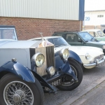 Members cars arrive at the Redditch venue