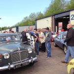 The public mingle around the classics