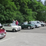 Club members meet at the Fox Inn Stourton