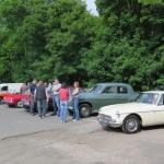 Club members meet at the Fox Inn Stourton