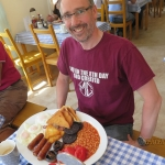 Steve with his Mega Trout Breakfast - Good luck Steve