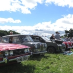 Club cars line up at Apley Farm