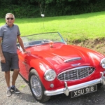 Len's Austin Healey wins the coveted Backgammon challenge trofhy