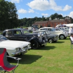 Members cars ar the Enville Show