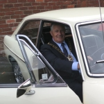 Deputy Mayor Dave Tyler reminisces in Nigel's Mk1 MGB GT that he used to drive when used as a Police patrol car.