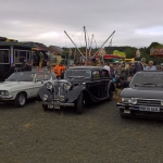 Members cars parked up at the Festival